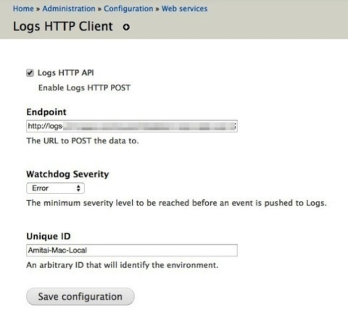 Logs for Drupal Image 1