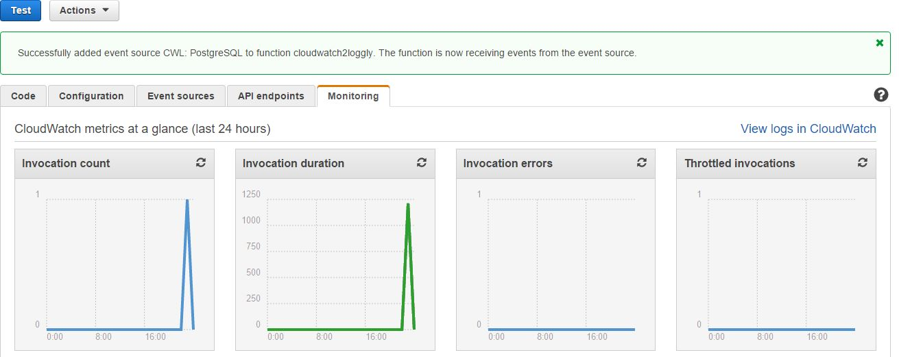 Sending Amazon CloudWatch Logs to Loggly With AWS Lambda