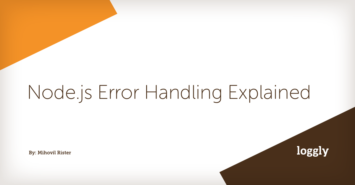 Node js Error Handling Explained